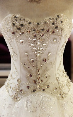 Sparkling Beaded Wedding Dresses | Sweetheart Sleeveless Lace Lace Appliques Bridal Dresses_4