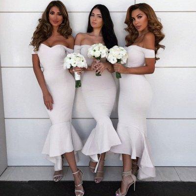 Simple Hi-Lo Mermaid Bridesmaid Dresses_2