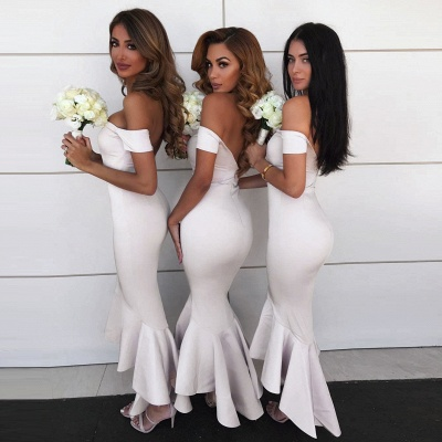 Simple Hi-Lo Mermaid Bridesmaid Dresses_3
