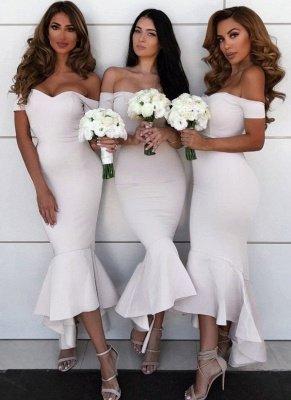 Simple Hi-Lo Mermaid Bridesmaid Dresses_1