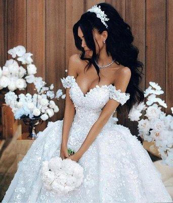 Robes de mariée de luxe sur l'épaule Appliques Robe de mariée sexy Robe de mariée sexy 2018_1