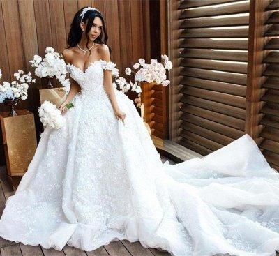 Robes de mariée de luxe sur l'épaule Appliques Robe de mariée sexy Robe de mariée sexy 2018_5
