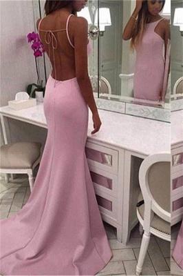Chic Crew Sleeveless Sweep-train Chiffon Mermaid Prom Dresses_1