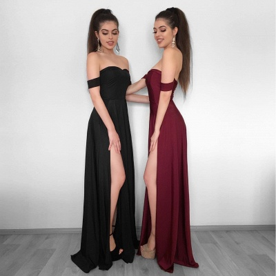 Sexy High Slit Evening Gowns   Off-the-Shoulder Formal Dresses_4