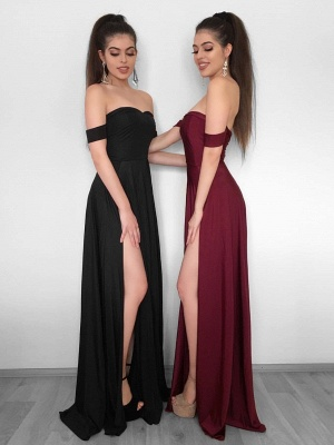 Sexy High Slit Evening Gowns   Off-the-Shoulder Formal Dresses_1