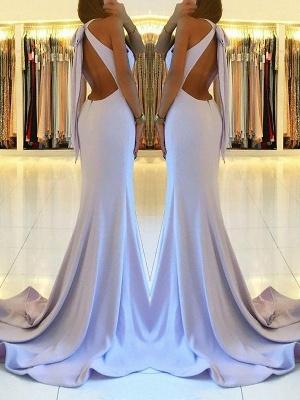 Newest Sleeveless Front Split Long Evening Dress   Backless Prom Dress_3