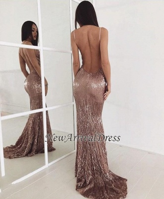 Beading Backless Sequin Sweep-train New-arrival Sexy Prom Dress_1
