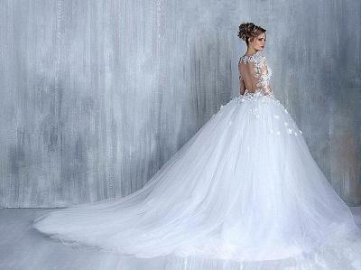 Empire Brautkleider Mit Ärmel Herz Tüll Weiß Hochzeitskleider Mit Spitze Brautmoden_5