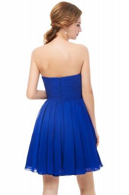 NETTIE | Aline Short Sweetheart Strapless Chiffon Blue Homecoming Dresses_7