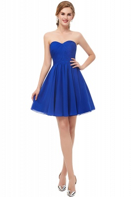 NETTIE | Aline Short Sweetheart Strapless Chiffon Blue Homecoming Dresses_1