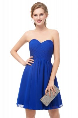 NETTIE | Aline Short Sweetheart Strapless Chiffon Blue Homecoming Dresses_6