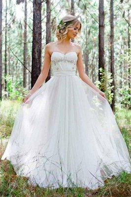 Tulle A-Line Custom Made Sexy Spaghetti Straps Beadings Simple Wedding Dresses_3