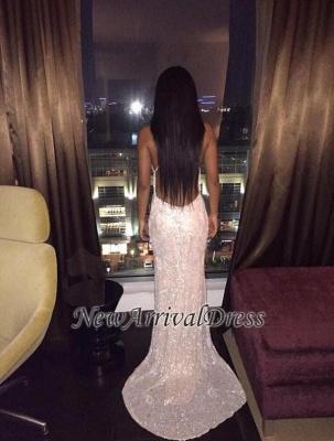 Lace Spaghetti-Straps V-Neck Sexy Backless Prom Dress_4