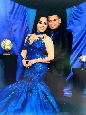 Royal-Blue Long-SleeveProm Dress | Mermaid Lace Evening Gowns_3