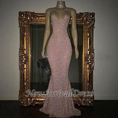 Stunning Mermaid Spaghetti Straps Sequined Sleeveless Prom Dresses Cheap sp0311_1