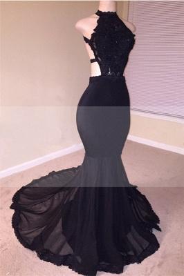 Open Back Black Mermaid Junior Long Prom Dresses Cheap | Sleeveless Formal Evening Dresses Online_1