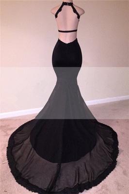 Open Back Black Mermaid Junior Long Prom Dresses Cheap | Sleeveless Formal Evening Dresses Online_3