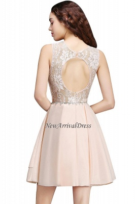 Tiers Elegant Lace Beading A-line Sleeveless Homecoming Dresses_6