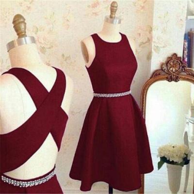 Modern Jewel Beads Sleeveless Sexy Short Homecoming Dresses BA7364_3