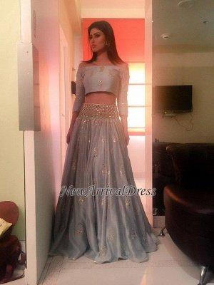quality Princess 2 dress high pieces prom long sleeve_3