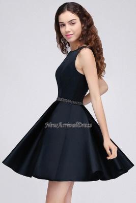 Short A-Line Sequare Beadings Black Sleeveless Homecoming Dresses_4