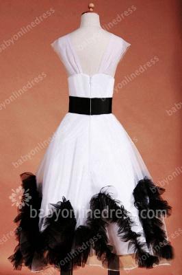 Charming Flower Girls DressesStraps Cap Sleeve Flower Black Sash Floor Length Zipper Girls Pageant Gowns_9