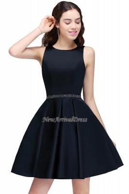 Short A-Line Sequare Beadings Black Sleeveless Homecoming Dresses_6