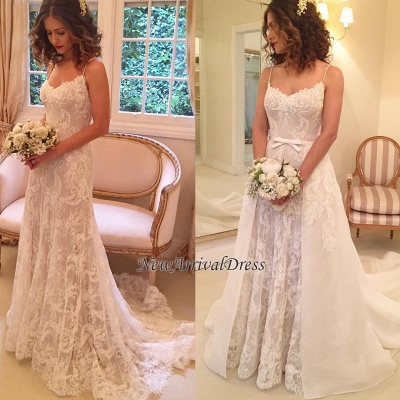 24f0fc77 Spaghetti-Straps Sexy Backless Sheath Appliques Wedding Dresses [Item Code:  D153413441323352]