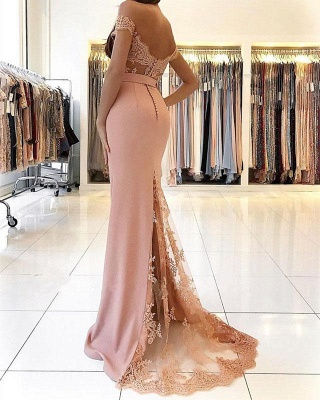 Off The Shoulder Lace Prom Dresses for Juniors | Mermaid Open Back Sexy Evening Gowns_4