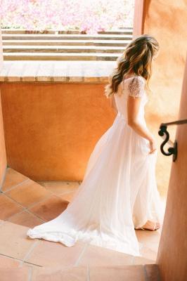 Cap Sleeves Chiffon Bohemian Wedding Dresses | Summer Beach Cheap Bridal Gowns Boho_3