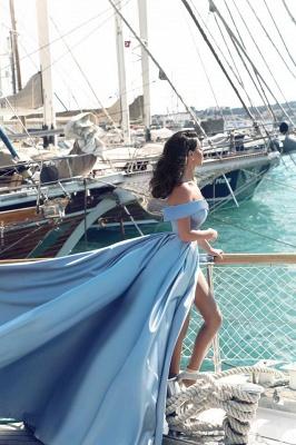 GlamorousOff-the-Shoulder Mermaid Evening Dress Long With Slit BA6777_4