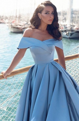 GlamorousOff-the-Shoulder Mermaid Evening Dress Long With Slit BA6777_3