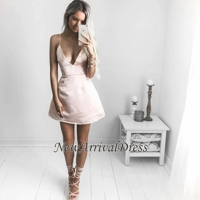 Cheap Sexy V-neck Short Homecoming Dress | Cute Homecoming Dress_1