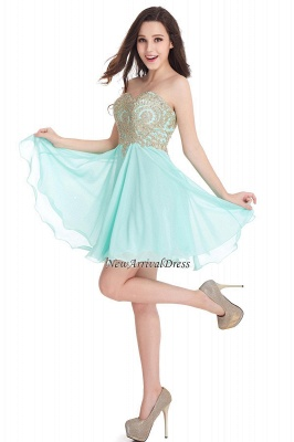 Appliques Short SweetheartMini Cheap Homecoming Dresses_11
