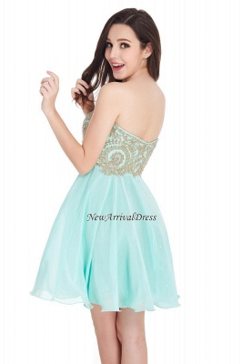 Appliques Short SweetheartMini Cheap Homecoming Dresses_12
