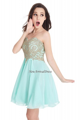 Appliques Short SweetheartMini Cheap Homecoming Dresses_13